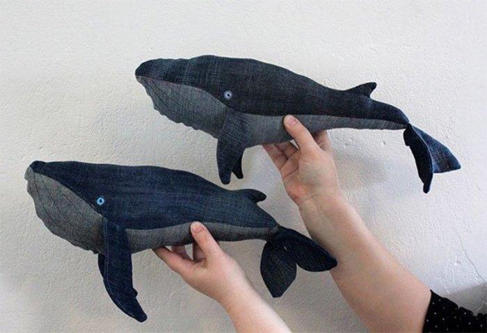 Джинсовый кит — простая в создании, но очень интереснаяtyisho.com игрушка или предмет декора. /Фото: