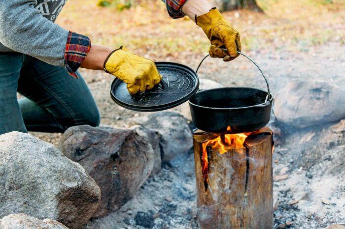 Готовка на шведской печи. /Фото: i.pinimg.com