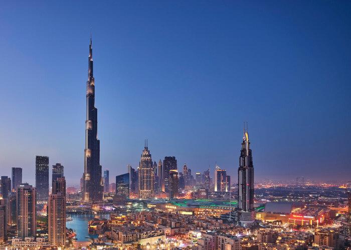 Бурдж Халифа возвышается высоко над Дубаем. /Фото: burjkhalifa.ae