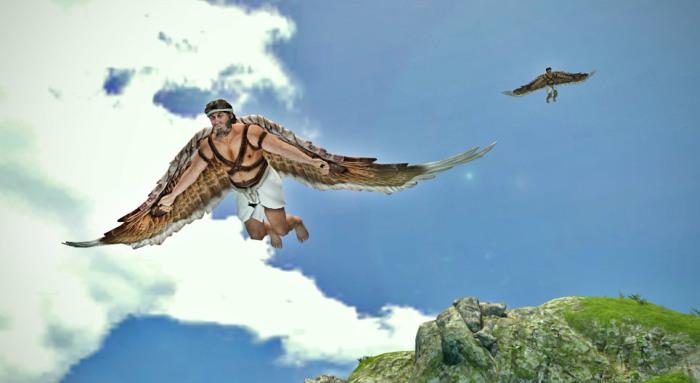 К сожалению, Икар растопил воск на крыльях, упал в море и утонул. /Фото: mozaweb.com