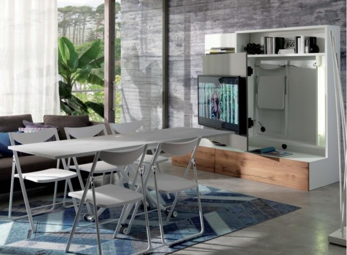 Комплекс многофункциональной и очень удобной мебели. /Фото: gulliver-interiors.com.ua