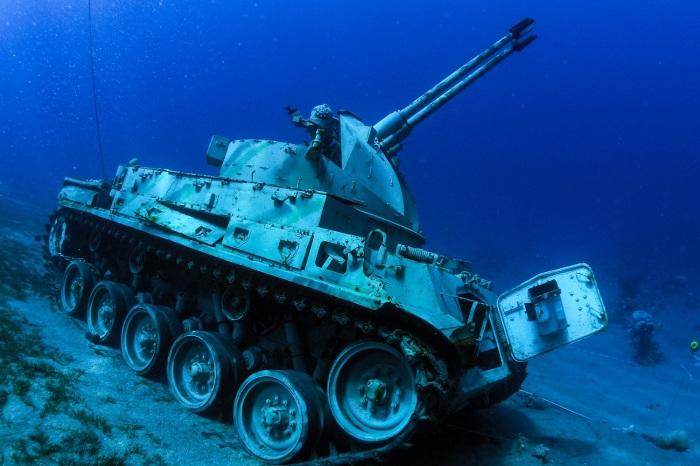 Подводный музей оттягивает на себя часть внимания дайверов. /Фото: middleeasteye.net