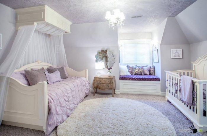 Хорошее решение для детской комнаты. /Фото: www.remontbp.com