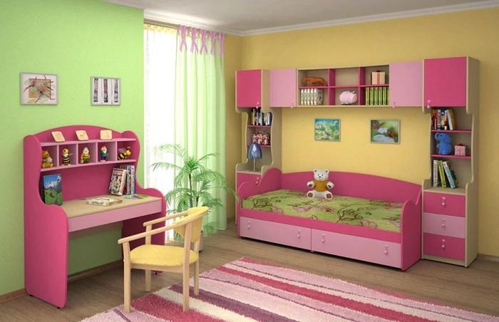 Розовый цвет идеально подходит для оформления детской комнаты. /Фото: avatars.mds.yandex.net