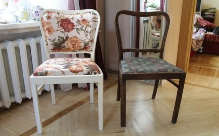 Чудесное обновление стула, которое можно выполнить своими руками из подручных средств. /Фото: creativnost.ua