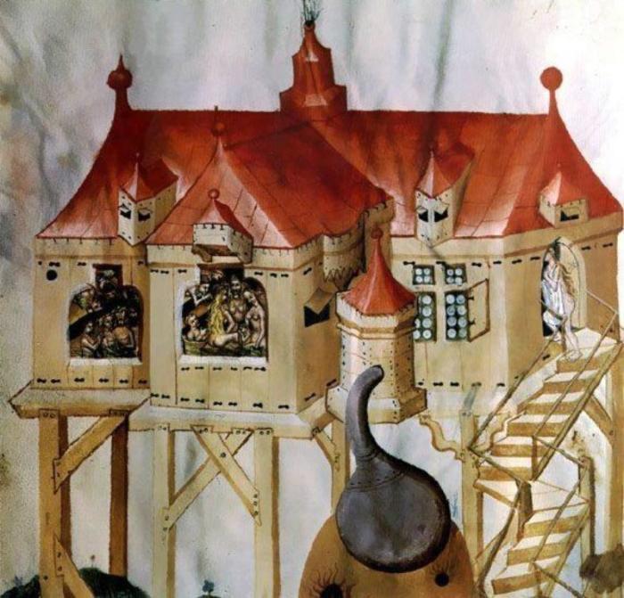 Здание средневековой бани. /Фото: fakeoff.org