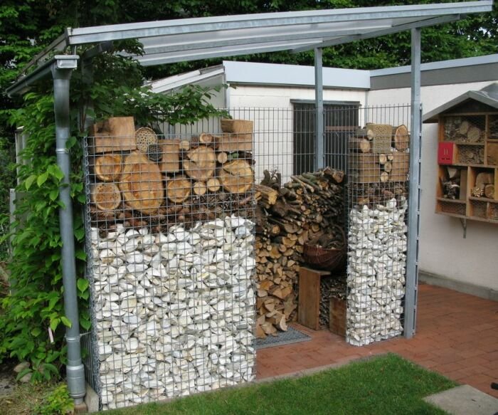 Бюджетное и быстрое решение для постройки гаража или мини-склада. /Фото: i.pinimg.com