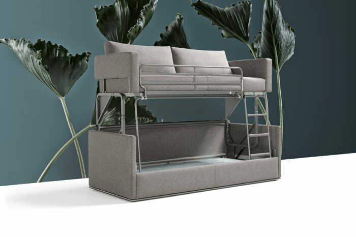 Двухъярусный диван – шикарное решение для малогабаритных квартир. /Фото: resourcefurniture.com