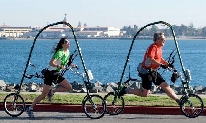 Со GlideCycle можно часами кататься-бегать без риска травмирования. /Фото: startupselfie.net