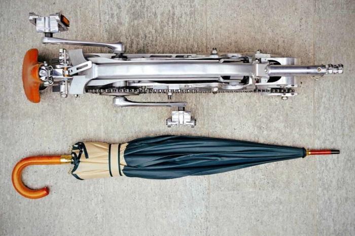 Без колес Sada Bike уменьшается до размеров зонта-трости. /Фото: assets.newatlas.com