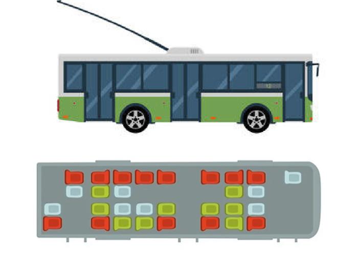Безопасные места в троллейбусе. /Фото: 3.bp.blogspot.com