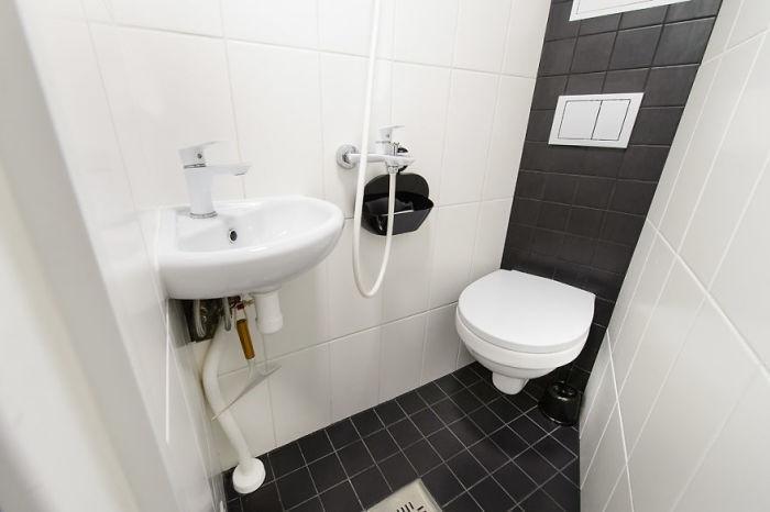 Удивительно, но возле уборной скрывается и мини-душевая. /Фото: main-designyoutrust.netdna-ssl.com