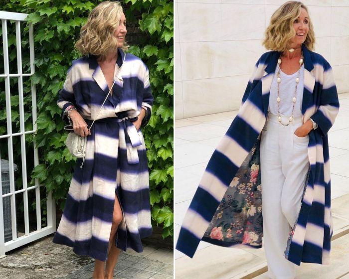 Платье-накидка прекрасно смотрится и соло, и в многослойных аутфитах.