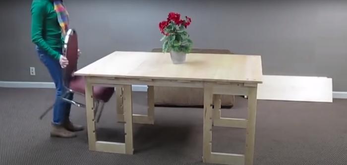 Обеденный стол на 6-8 человек. /Фото: youtube.com/watch?v=LROpYJn5kAs