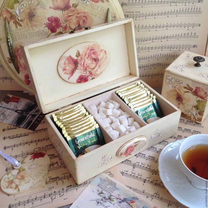 С таким удобным органайзером чайные пакетики всегда будут в идеальном порядке. /Фото: i.pinimg.com