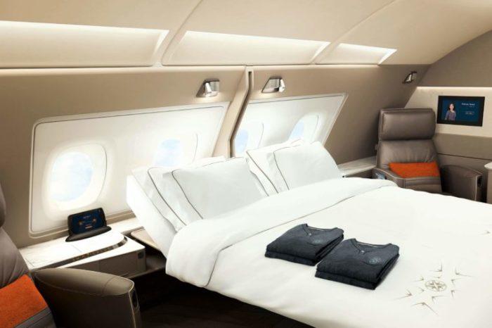 Каюта suites-класса на борту Airbus A380 Singapore Airlines. /Фото: rd.com