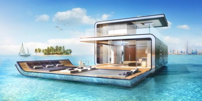 Над ватерлинией высится два уровня, но самое интересное под водой. /Фото: homelord.com