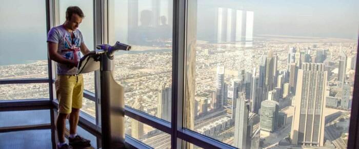 Со смотровой площадки 124 этажа открывается потрясающий вид на панораму Дубая. /Фото: allesoverdubai.info