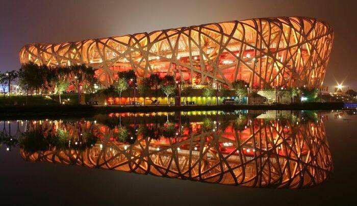 Пекинский национальный стадион «Птичье гнездо». /Фото: upload.wikimedia.org