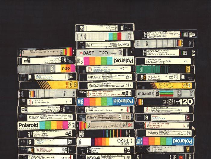 Среди обилия разных кассет обязательно найдется ценный экземпляр. /Фото: i.pinimg.com