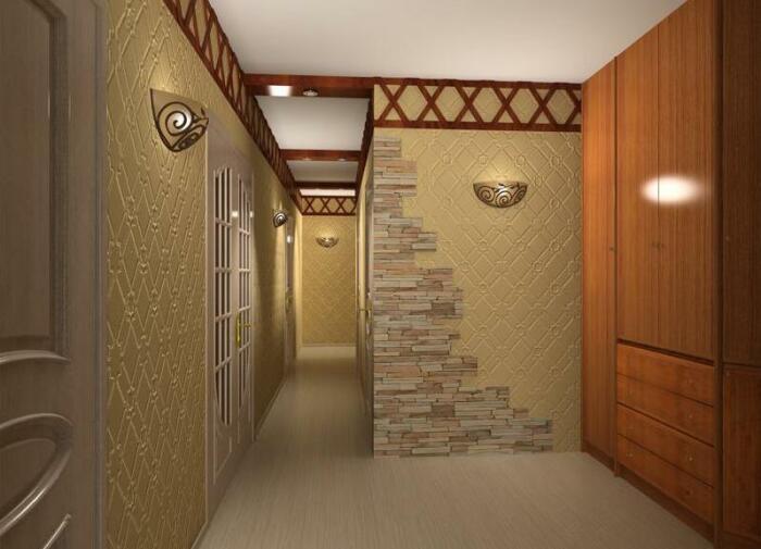 «Рваная» фрагментация подчеркивает углы коридора. /Фото: womanuntamed.com