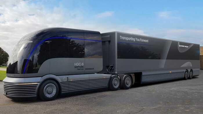 Красивый и мощный грузовик будущего. /Фото: cdn.motor1.com