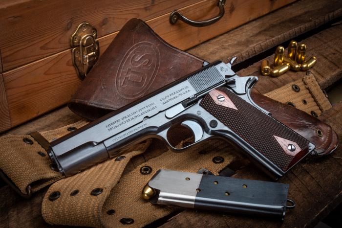 Для США Colt M1911 не просто оружие, а один из американских символов XX века. /Фото: turnbullrestoration.com