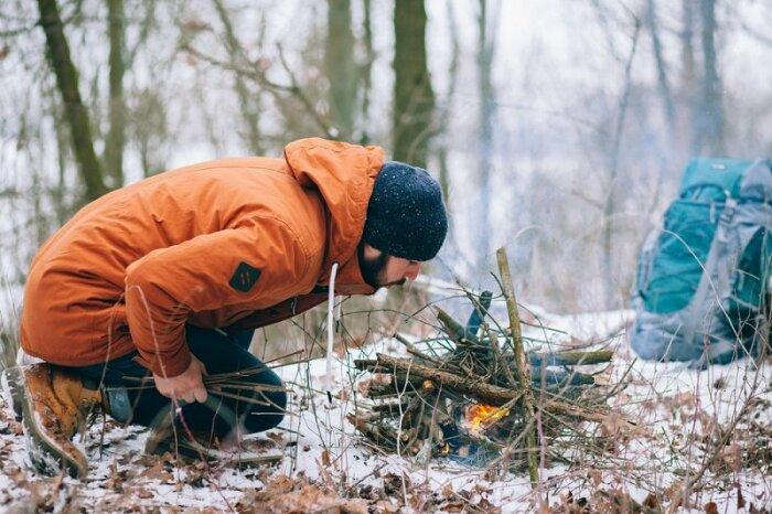 С костром холод точно не будет страшен. /Фото: takprosto.cc