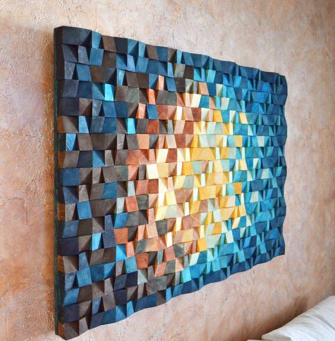 Нестандартное решение для украшения стены в любой комнате. /Фото: i.pinimg.com