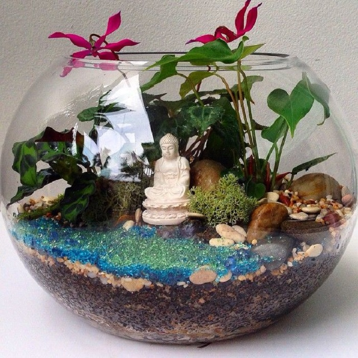 Красивый сад с определенной тематикой. /Фото: i.pinimg.com