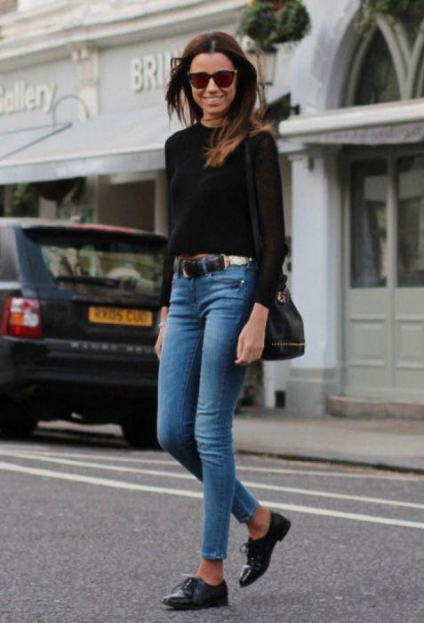 Оксфорды – стильная обувь, подчеркивающая элегантность образа. /Фото: i.pinimg.com