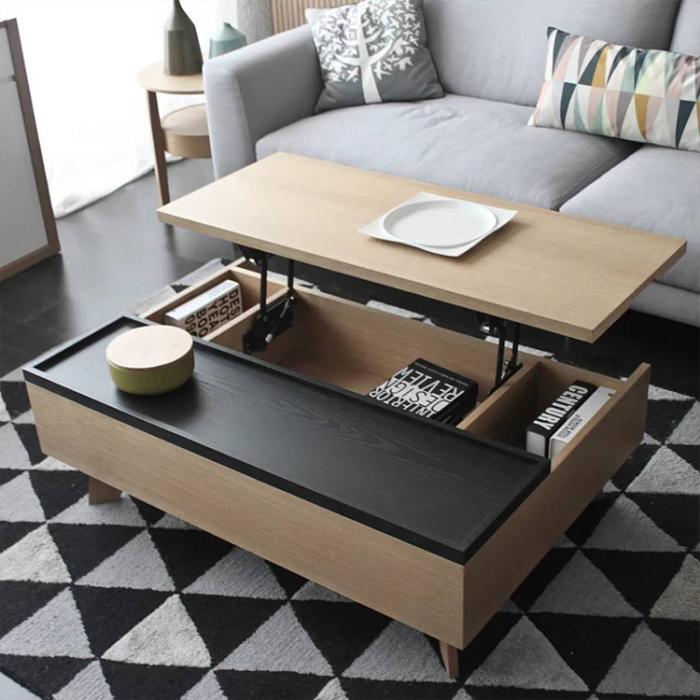 Журнальный столик с емкостью для хранения более функционален. /Фото: sc04.alicdn.com