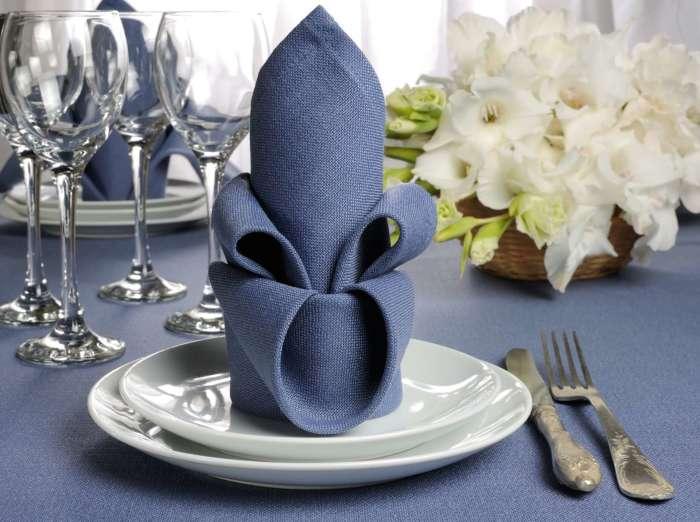Царский ужин с такими салфетками будет максимально изысканным. /Фото: marinavelez.co