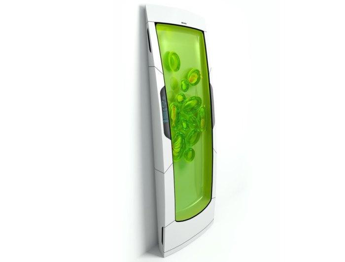Ультратонкий холодильник экономит пространство, но концепция биогеля пока непривычна. /Фото: inhabitat.com