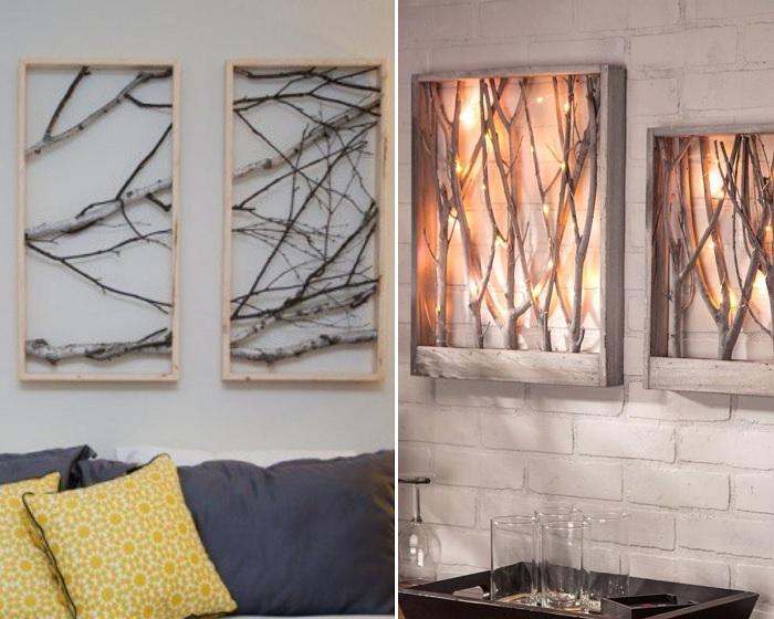 Картины из дерева особенно интересно смотрятся с подсветкой.