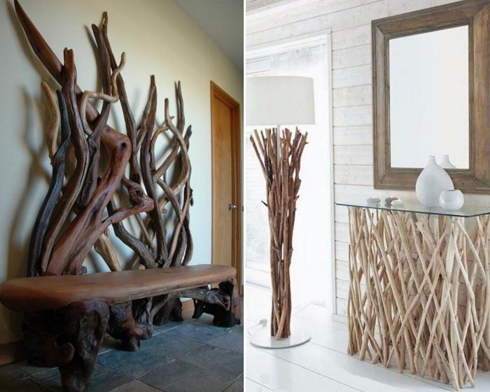 При наличии фантазии получают очень необычные предметы мебели.
