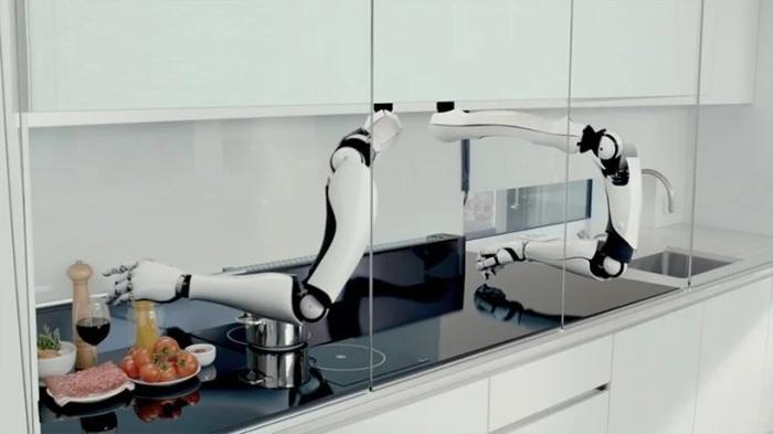 Робот-шеф-повар Moley Chef. /Фото: static.designboom.com