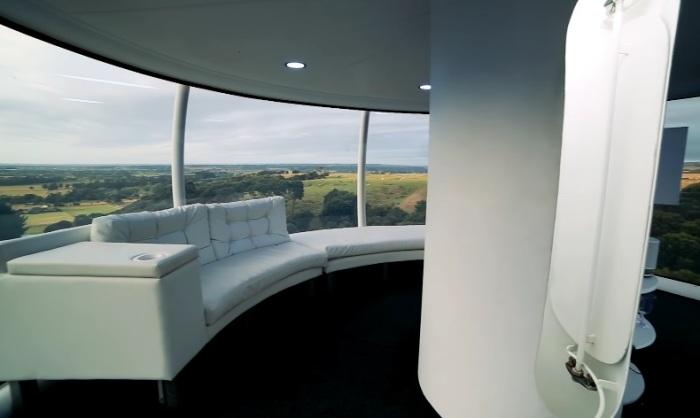 Так сферический дом выглядит внутри. /Фото: ecotechnica.com.ua