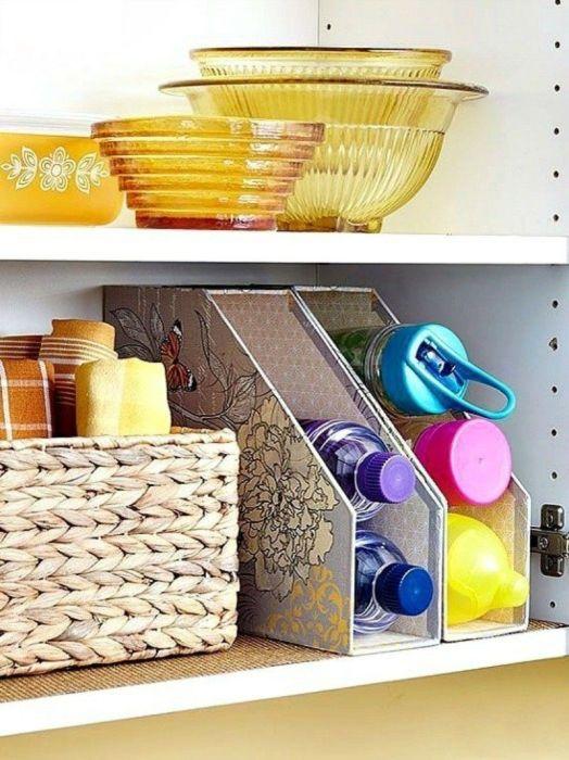 Хорошо действует эта идея и в шкафах. /Фото: i.pinimg.com