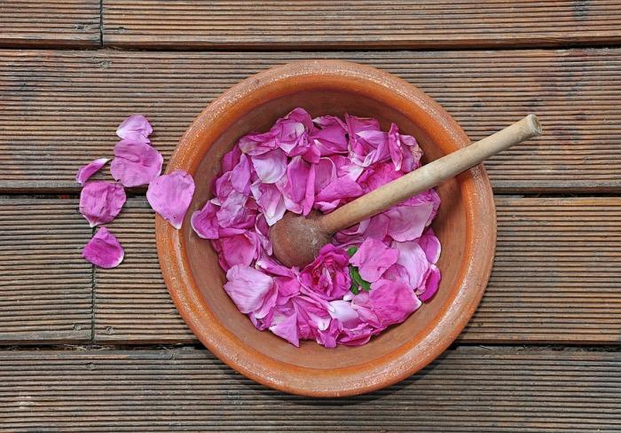 Паста из лепестков роз и молока – средство, достойное губ Клеопатры. /Фото: 4.bp.blogspot.com