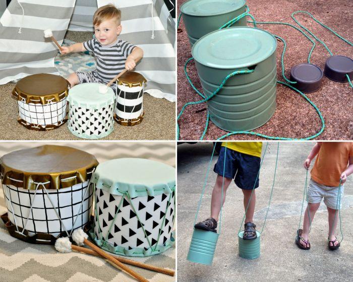 Дети с радостью будут и барабанить, и осваивать ходьбу на ходулях. /Фото: ibb.co