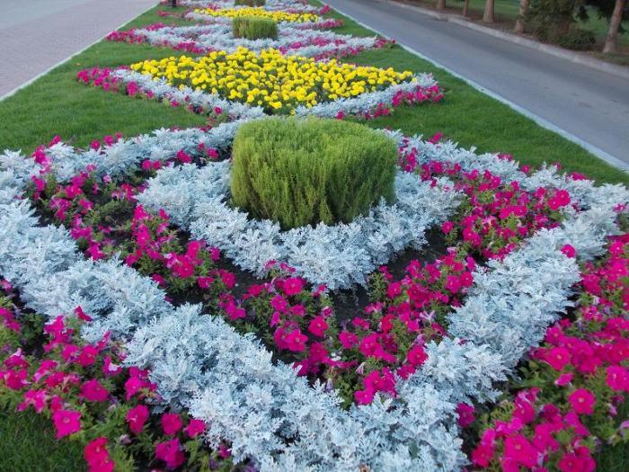 Геометрические фигуры из различных растений смотрятся очень эффектно. /Фото: idei-dekoru.com