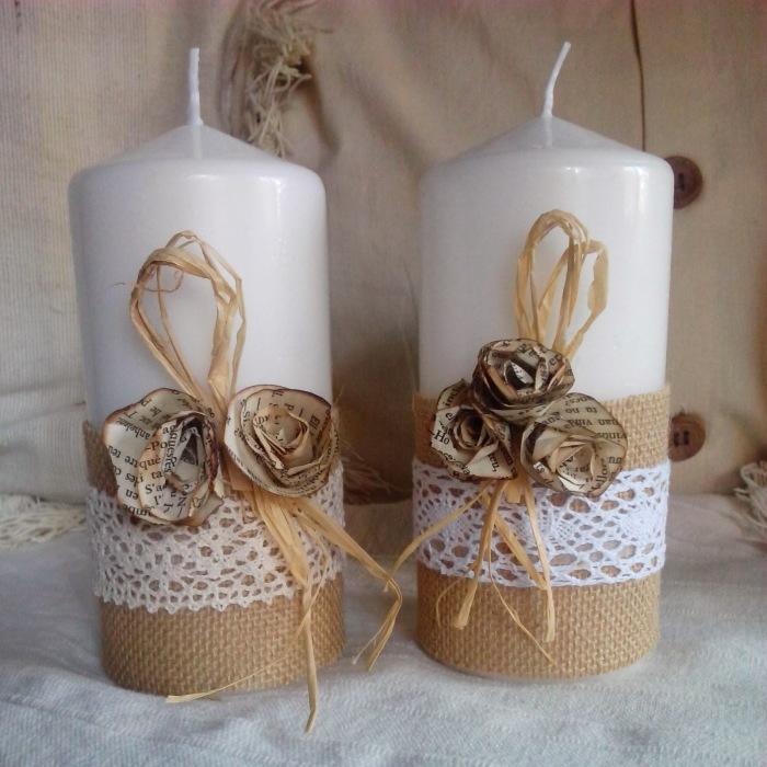 Не нужно тратить лишние деньги на красиво оформленные свечи, их можно сделать самостоятельно. /Фото: 4.bp.blogspot.com