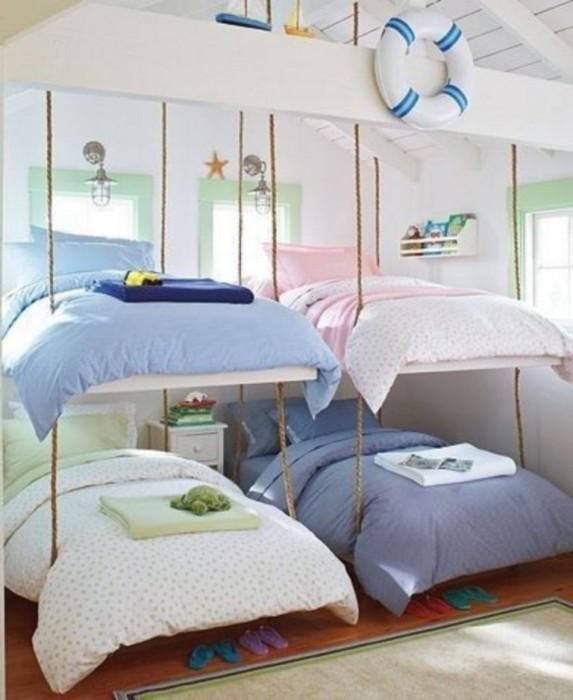 Комната в облаках — удивительное место, которому обрадуется любой ребенок. /Фото: 4ll.redecorideas.com
