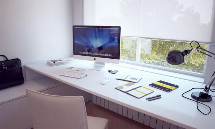 Широкий подоконник успешно заменит компьютерный стол. /Фото: zenworkpro.com