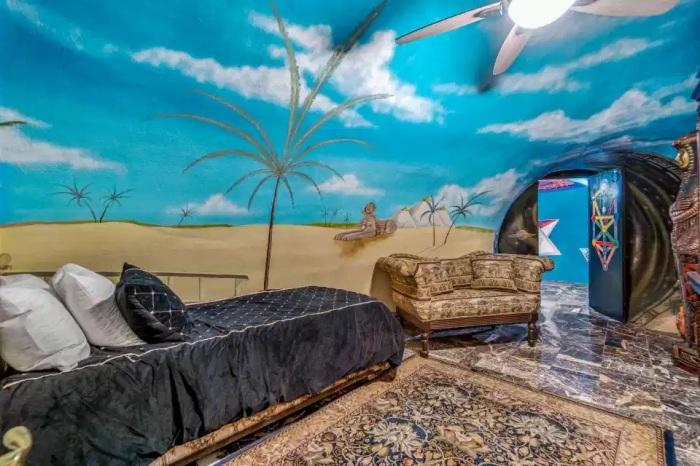 Несколько мест для отдыха позволяют почувствовать себя действительно расслаблено. /Фото: the-sun.com
