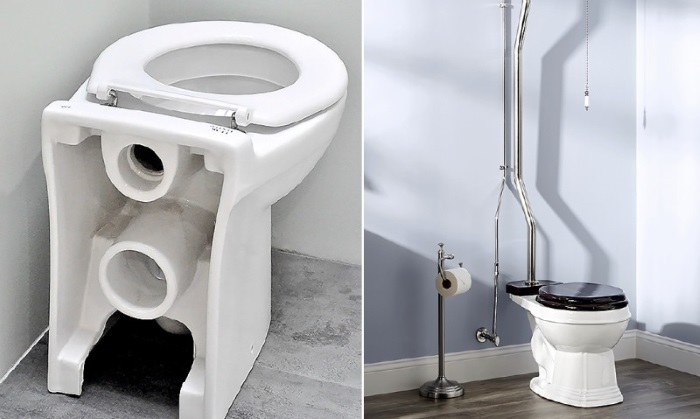 Уникальная американская система туалетов. /Фото: videoboom.cc