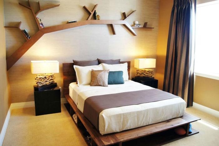 Эко-стиль — уютная и комфортная спальня. /Фото: dekormyhome.ru