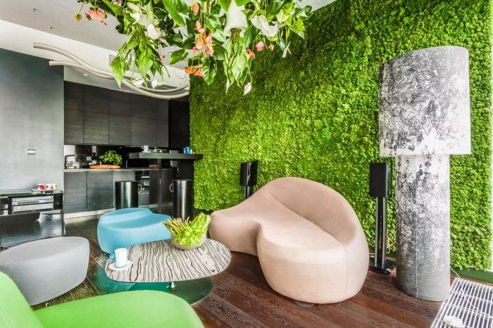 Эффектное решение для масштабного озеленения комнаты. /Фото: pbs.twimg.com