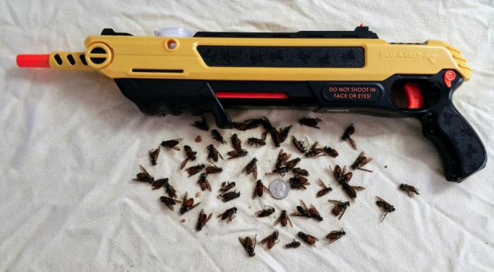 Всего один выстрел, чтобы избавиться от мухи или комара. /Фото: i.pinimg.com
